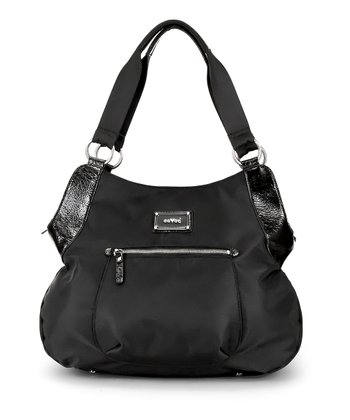 Black Noir Debbie Tall Hobo Diaper Bag
