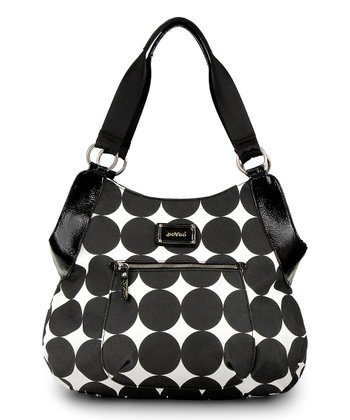 Black Dots Debbie Tall Hobo Diaper Bag