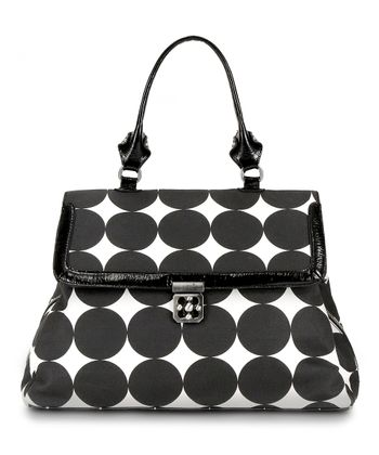Black Dots Brooke Diaper Satchel