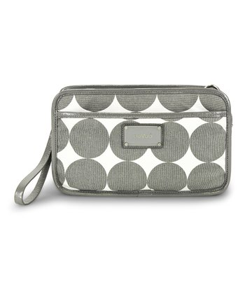 Dove Gray Dots Bella Crossbody Diaper Bag