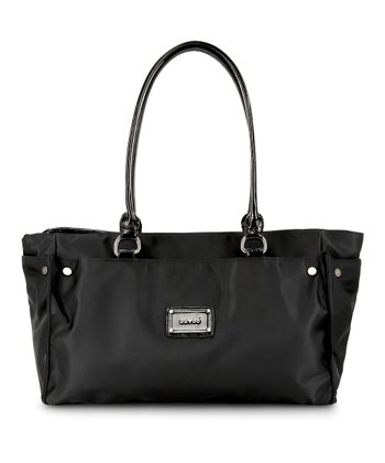 Black Noir Anna Wide Diaper Bag