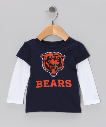 Navy & White Chicago Bears Layered Tee - Infant, Toddler & Kids
