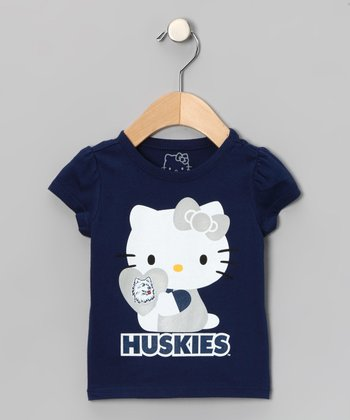 Connecticut Huskies Hello Kitty Tee - Toddler