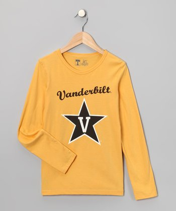 Yellow Vanderbilt Star Tee - Kids