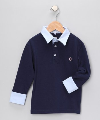 Navy Polo - Infant & Toddler