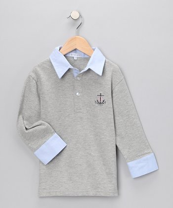 Gray Polo - Infant, Toddler & Boys