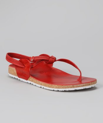 Red & White Tara Sandal