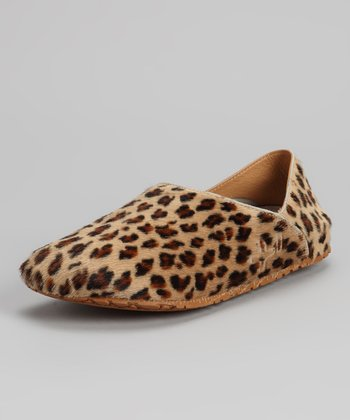 Brown & Black Leopard Pony Hair Slip-On Shoe