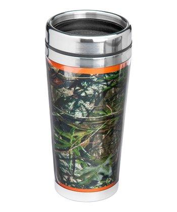 Occasionally Made Orange & Mossy Oak 16-Oz. Travel Mug
