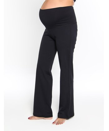 Oceanlily Black Maternity Yoga Pants