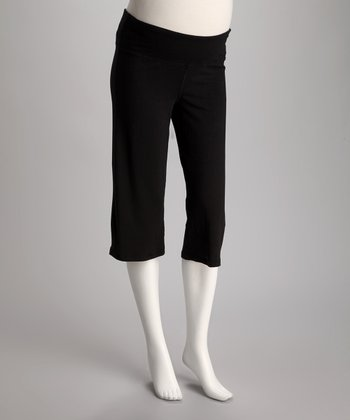 Black Maternity Capri Pants