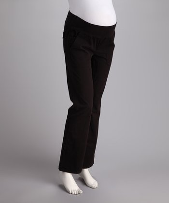 Black Under-Belly Maternity Bootcut Pants