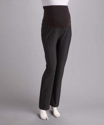 Charcoal Over-Belly Maternity Trousers