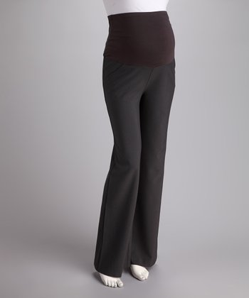 Charcoal Over-Belly Maternity Trousers - Women