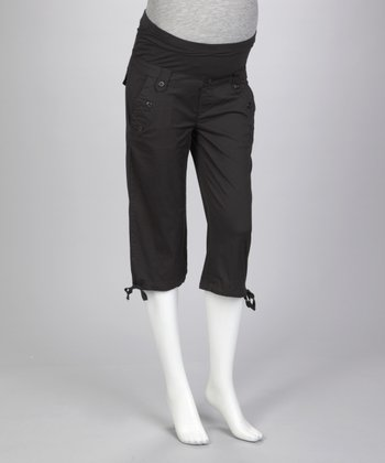 Black Sailor Maternity Capri Pants
