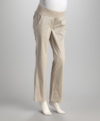 Stone Under-Belly Maternity Bootcut Pants
