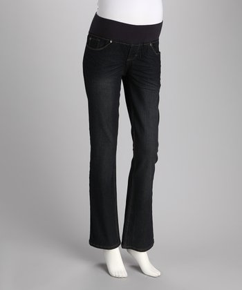 Oh! Mamma Dark Wash Under-Belly Maternity Bootcut Jeans