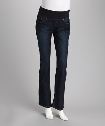 Rinse Under-Belly Boot Cut Maternity Jeans