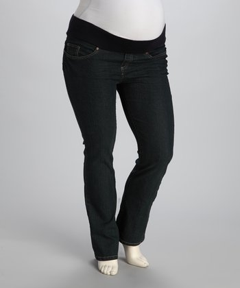 Rinse Wash Maternity Under-Belly Straight-Leg Jeans - Women