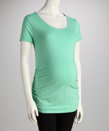 Apple Anchor Button Ruched Maternity Tee