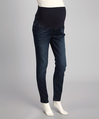 Medium Super-Soft Luxury Denim Maternity Skinny Jeans - Women