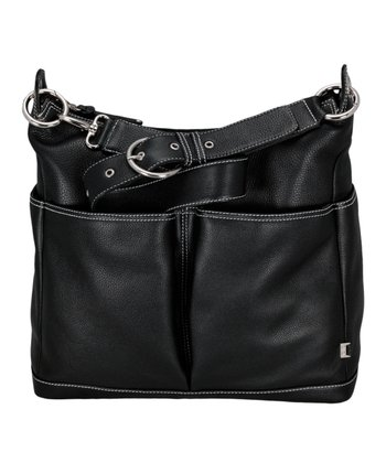 Black Leather Hobo Diaper Bag