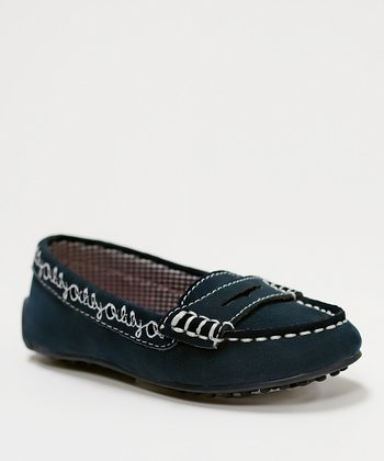 Navy Chrissy Loafer