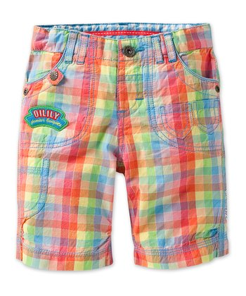 Rainbow Checker Pom Pants - Infant, Toddler & Boys