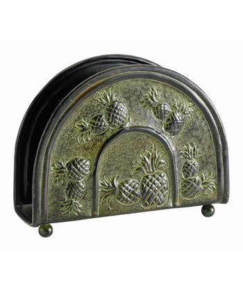 Dark Green Piña Napkin Holder