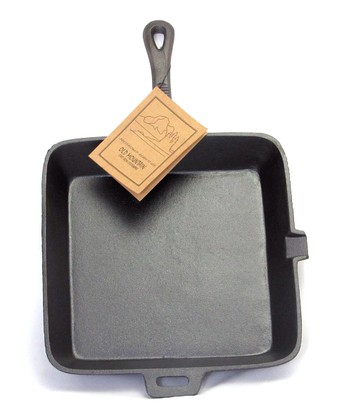 Square 10.5'' Cast Iron Skillet