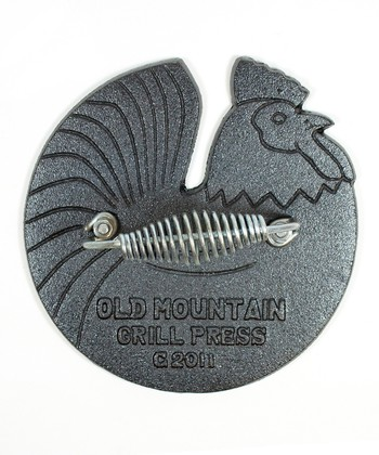 Rooster Cast Iron Grill Press