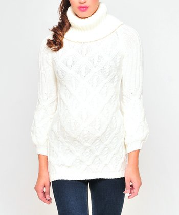 Olian Ivory Maternity Sweater