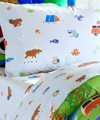 Olive Kids Camping Trip Twin Sheet Set