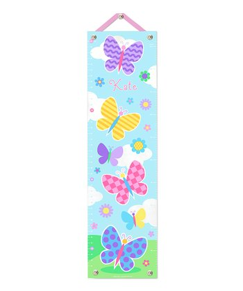 Butterfly Garden Personalized Canvas Growth Chart