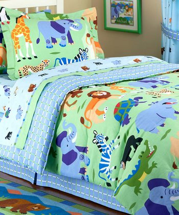 Wild Animals Toddler Bedding Set