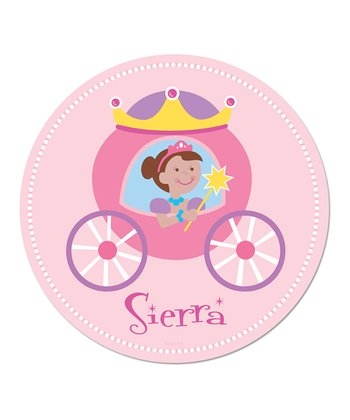 Dark-Haired Princess Personalized WallDotz Decal