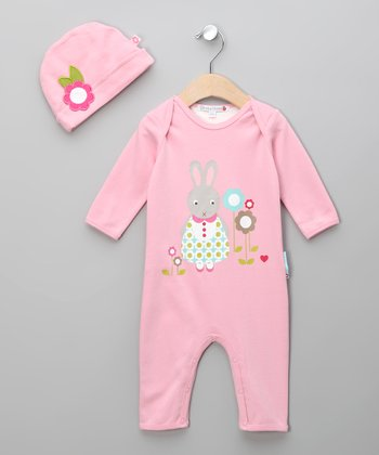 Pink Betty the Bunny Playsuit & Beanie - Infant