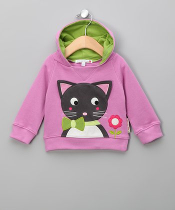 Lilac Karina the Kitten Hoodie - Infant & Toddler