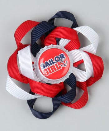 Red & Navy 'Sailor Girl' Clip