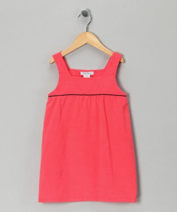 Watermelon Corduroy Swing Dress - Girls
