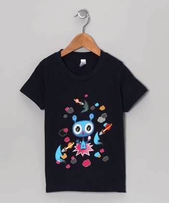 Olly Oogleberry Navy Black Hole Tee - Boys
