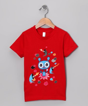 Olly Oogleberry Red Black Hole Tee - Boys