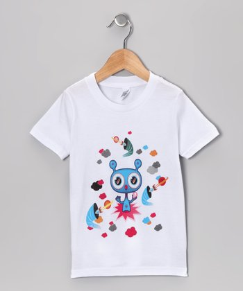 Olly Oogleberry White Black Hole Tee - Boys