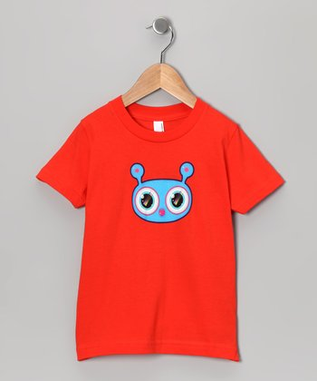Olly Oogleberry Orange Faceman Tee - Boys