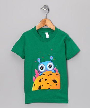 Olly Oogleberry Kelly Green Peek-a-Boo Tee - Boys