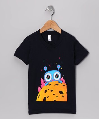 Olly Oogleberry Navy Peek-a-Boo Tee - Boys