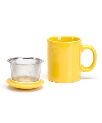 Yellow Infuser Mug
