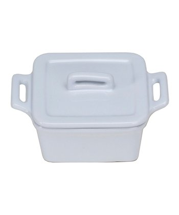 White Square Mini Baker & Lid - Set of Four