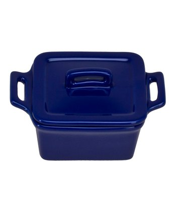 Blue Square Mini Baker & Lid - Set of Four