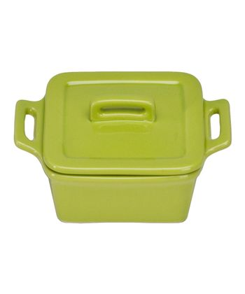 Citron Square Mini Baker & Lid - Set of Four